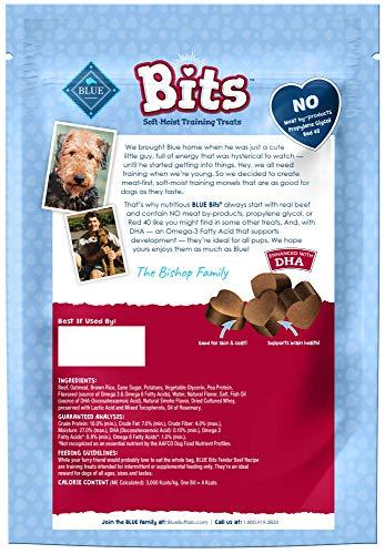 Blue Buffalo BLUE Bits Natural Soft-Moist Training Dog Treats, Beef Recipe 16-oz bag