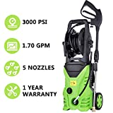 Meditool MT5 Electric Power Pressure Washer, 3000 PSI 1.70 GPM Electric Pressure Washer, High Pressure Cleaner with Hose Reel