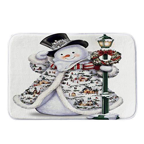 Merry Christmas Snowman Printing Pgojuni Welcome Doormats In