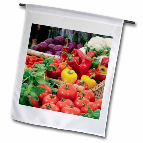 Usa Fruit Basket (3dRose fl_209403_1 Baskets Carrying Fruit and Vegetables, South Africa USA Garden Flag, 12 by 18