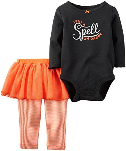 Carter's Baby Girls' 2 Pc Sets 119g115, Black, 12 (Halloween Cave Girl)