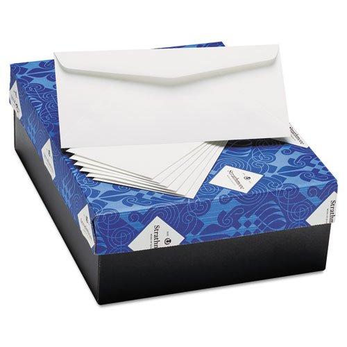 Strathmore 25% Cotton (Strathmore 25% Cotton Business Envelopes, Bright White, Laid Finish, 24 lbs, 4 1/8 x 9 1/2)