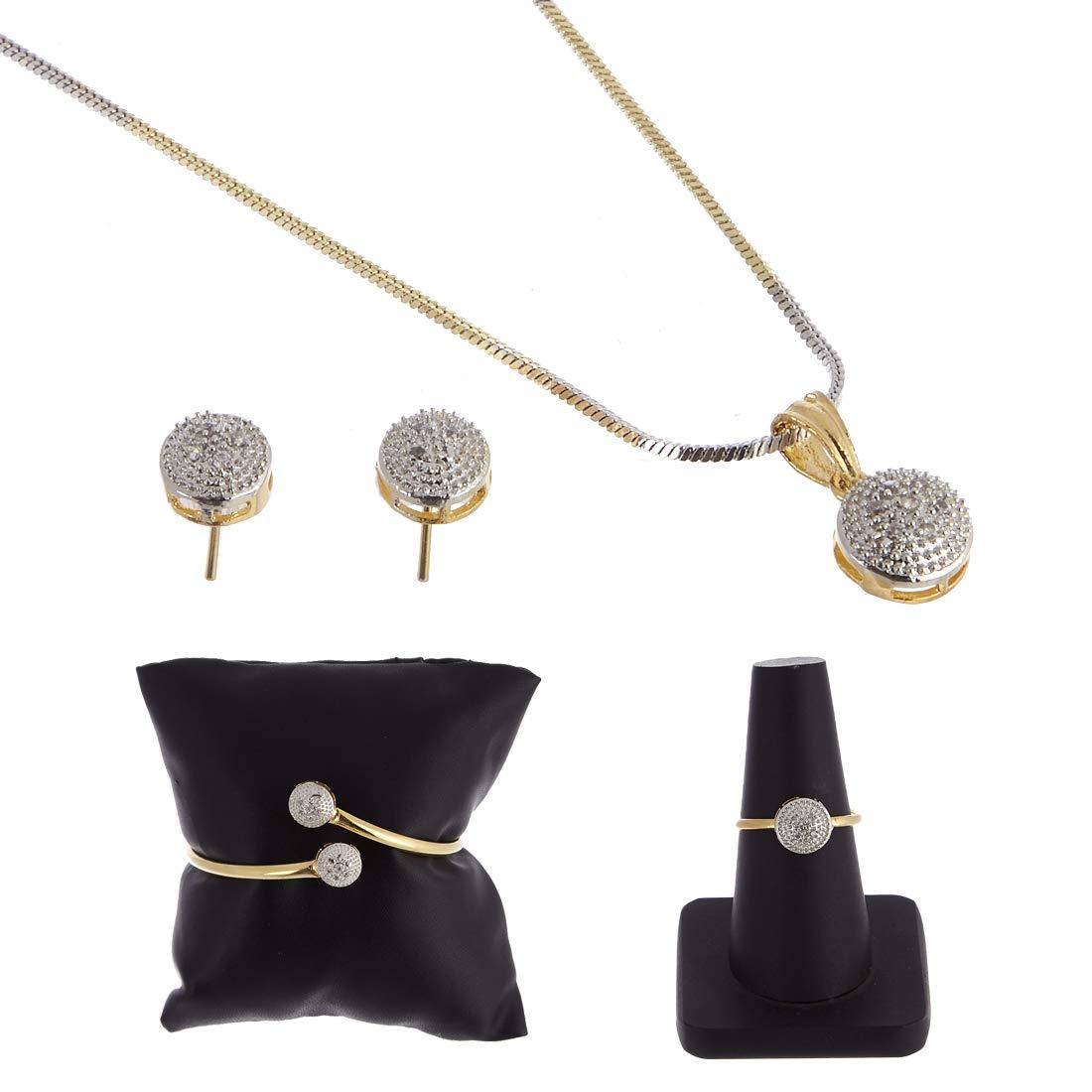Zeneme American Diamond Traditional Fashion Jewellery Combo