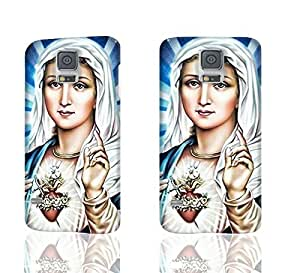 Virgin Mary Christian Christmas 3D Rough Case Skin, fashion design image custom , durable hard 3D case cover for Samsung Galaxy S5 i9600 Regular, Case New Design By Codystore