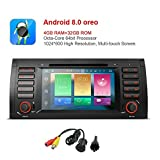 MCWAUTO For BMW 5 Series E39 E53 X5 7 Inch Android 8.0 Multi Touch Screen Car Stereo Radio DVD Player GPS CANbus Screen Mirroring Function OBD2 Octa-Core 64Bit 4G RAM 32GB ROM with rear view camera For Sale