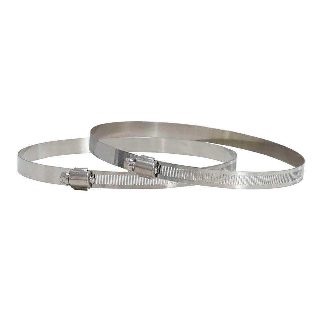 Pacific Technologies Stainless Steel Duct Clamps 7 Inch Pack of 2