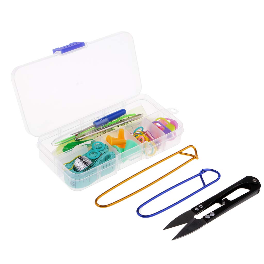 57pcs Basic Knitting Tools Accessories Supplies with Case Knit Kit Lots