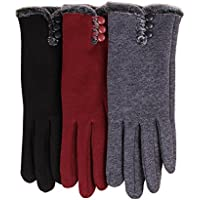 T-GOTING Womens Winter Gloves Warm Lined Touch Screen Driving Gloves