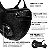 Dust Mask with 2PCS Filters Sports Face Mask