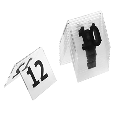 aspire acrylic table tent numbers 3 1 8 x 3 1 8 double side clear