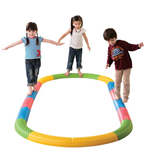 Weplay Tactile Balance Path, Set of 8 Curved and 8 Straight Sections
