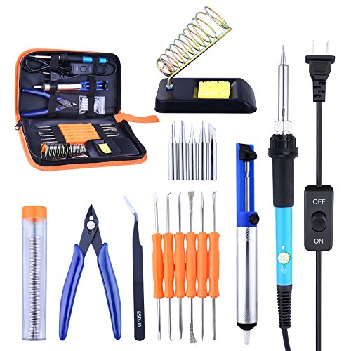 Soldering Iron Kit, Solder Iron Tool Kit 60W Soldering Iron Adjustable Temperature