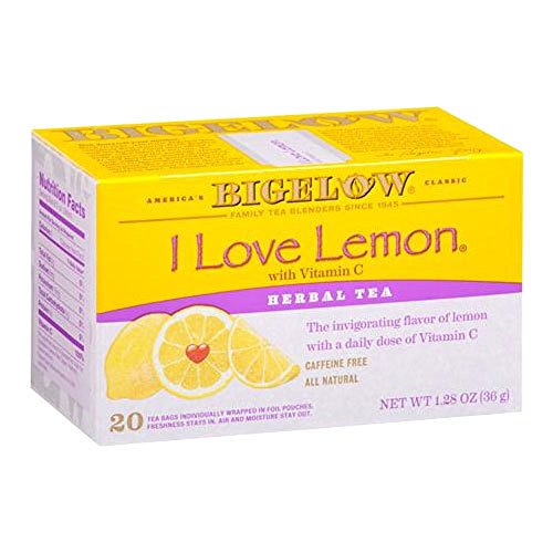 Bigelow I Love Lemon Herbal Tea with Vitamin C 1.28 OZ(Pack of 2)