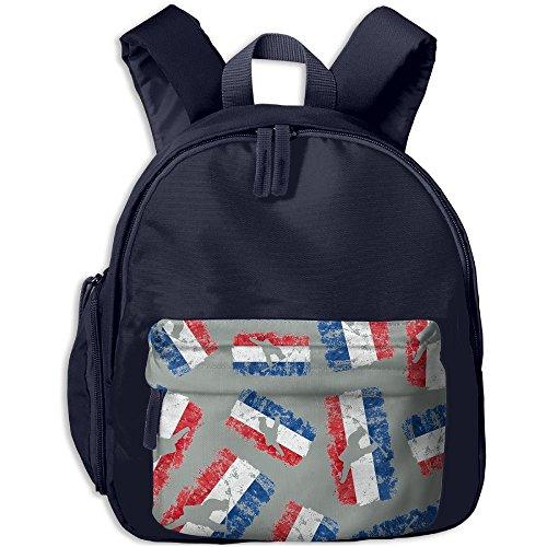 Dutch Flag Snowboarding Kid School Backpacks Lovely Daypacks