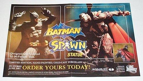 Batman and Spawn Statue Dc Comics Shop Dealer's Promo Poster