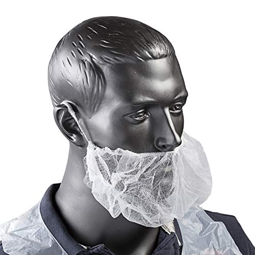 White Latex Free Polypropylene Beard Protector, Package of 100