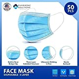 Disposable Face Masks (50 Mask Pack) Made in USA, 3