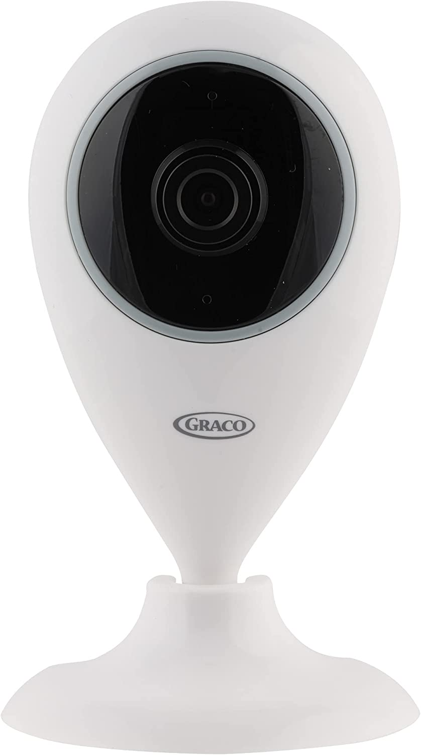 Graco Baby Smart Home Security Camera, Indoor Wide Angle WiFi Camera for Home Security with Night Vision, Motion Alerts, Two Way Communication, Pet and Baby Monitor Surveillance Camera (White)