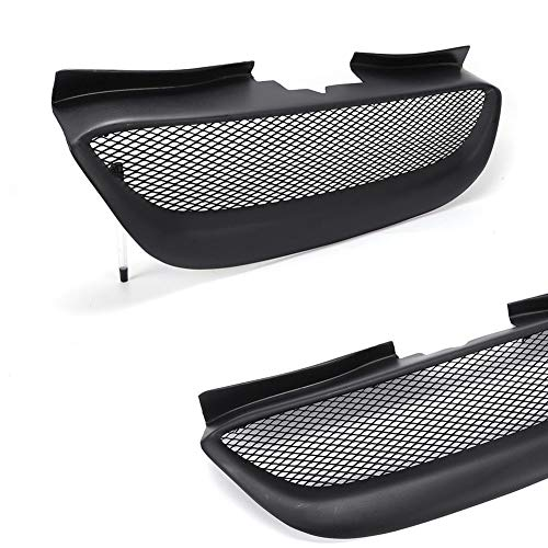 (Grille TBVECHI Front Hood Mesh Grille Resin Fit Hyundai Genesis Coupe 2-Door 2.0L/3.8L 08-12 Black)