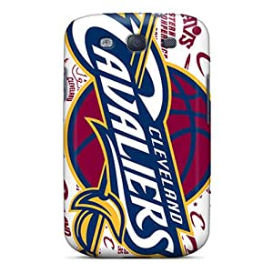 Bumper Hard Phone Covers For Samsung Galaxy S3 With Support Your Personal Customized Vivid Cleveland Cavaliers Skin ZabrinaMcVeigh