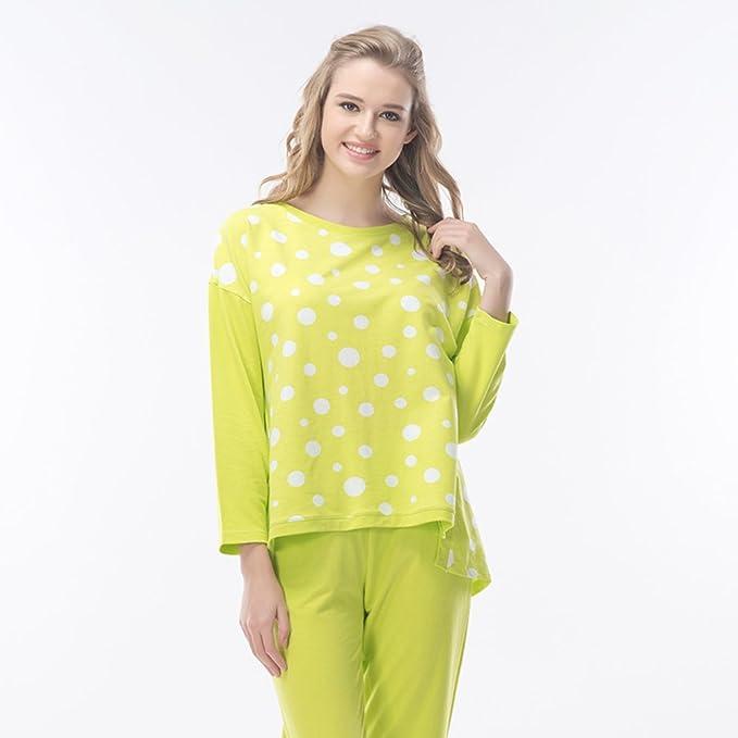 Primavera/verano pijamas de la mujer/[Pijamas]/Manga larga algodón pantalones