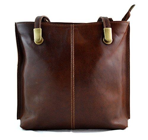 Ladies handbag leather bag clutch backpack crossbody women bag made in Italy brown by ItalianHandbags