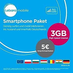 Lebara Paquete de teléfono Inteligente [SIM, Micro-SIM y