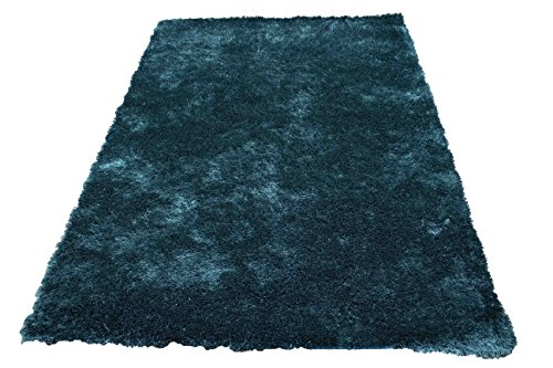 - Solid Plain Dark Green Deep Green Pale Teal Dark Teal Two Tone Color Shag Shaggy Fluffy Fuzzy Furry Flokati Modern Contemporary Bedroom Living Room Medium Pile 5'x7' Area Rug Carpet (Aroma Teal)