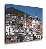Ashley Canvas City Of Taxco Located In The Mexican State Of Guerrero Wall Art Decor Stretched Gallery Wrap Giclee Print Ready to Hang Kitchen living room home office, 24x30