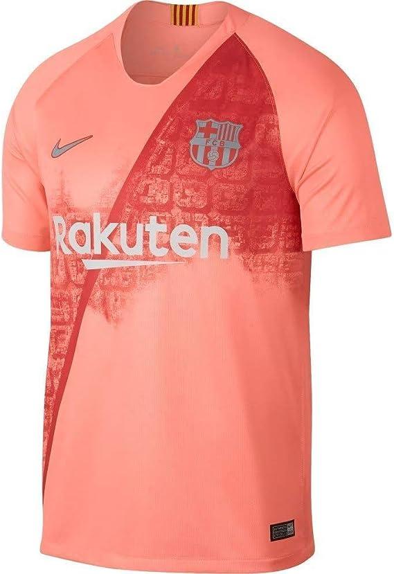 NIKE FC Barcelona Breathe Stadium Jersey Short-Sleeve 3r - Camiseta Hombre: Amazon.es: Ropa y accesorios