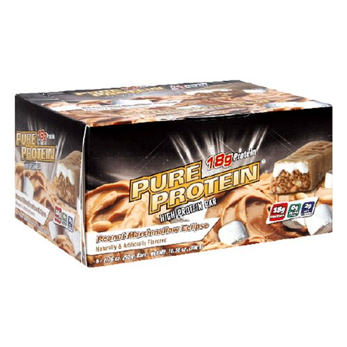 Pure Protein Bar, Peanut Marshmallow Eclipse, 6 Bars, 1.76 Ounces (Pack of 2)