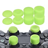 YoRHa Professional Thumb Grips Thumbstick Joystick Cap Cover (green) Extra High 8 Units Pack for PS4, Switch PRO, PS3, Xbox 360, Wii U tablet, PS2 controller