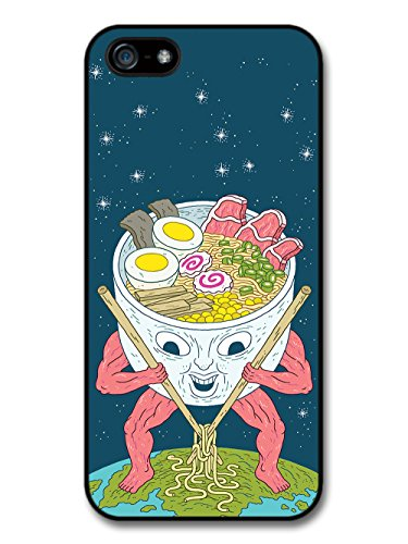 Ramen Alien with Noodle Soup Weird Funny Japanese Design case for iPhone 5 5S