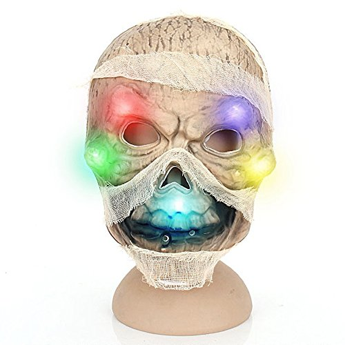 Scary Led Mask Purge Halloween Light Up Costumes Glow Stick Changeable Party City Mask for Parties Festival Costume by Latburg(Yellow) (The Walking Dead Halloween Costumes Party City)