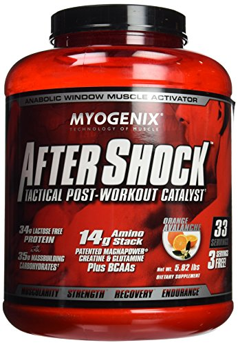 Stack Workout - Myogenix AfterShock Tactical Post-Workout Catalyst - Orange Avalanche - 5.82 lbs