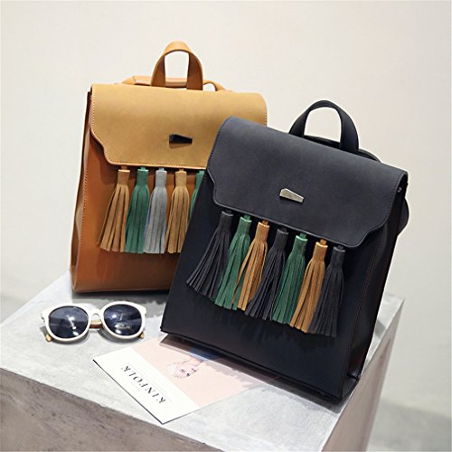 Pu Fashion Bags Backpacks Tassel School Square Girls Scrub Leather Gray Women Shoulder R0twqF