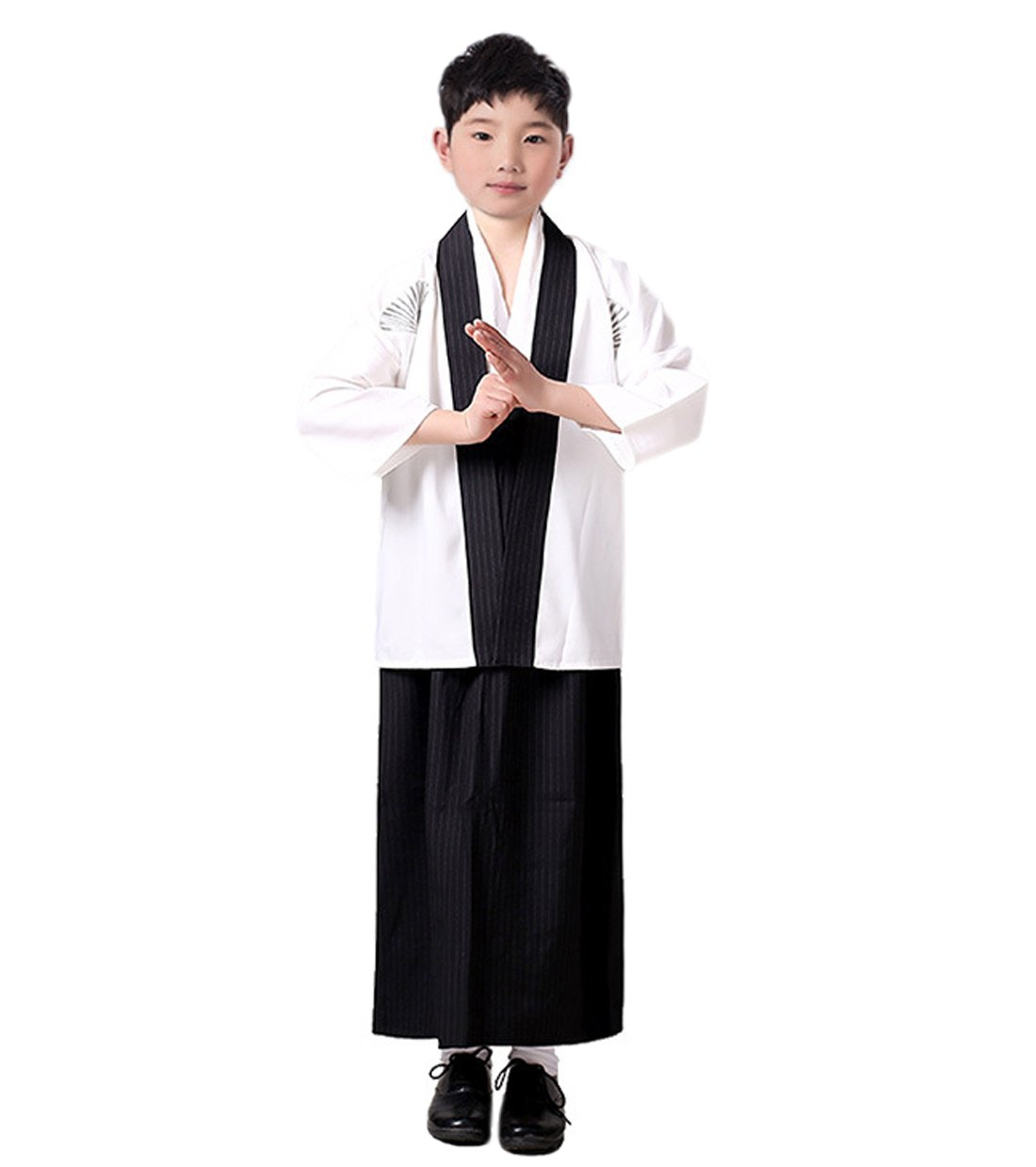 YueLian Boys Japanese Traditional Samurai Kimono Robe Outfit