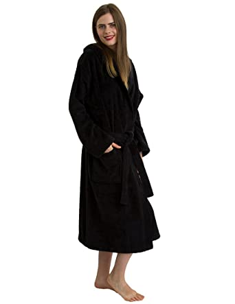 e9eef8fb4b TowelSelections Luxury Hooded Bathrobe - 100% Natural Cotton