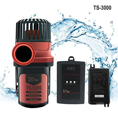 Upettools DC Marine Water Flow Pump Submersible Wave Controllable Pump Super Mute Energy Saving Variable Frequency 24V Output Amphibious for Fish Tank Aquarium Pool 792GPH. (3000L/H)
