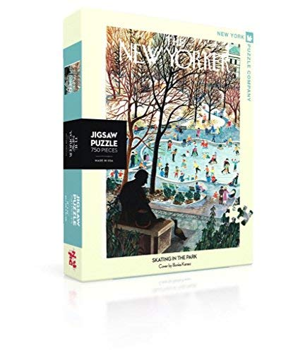New York Puzzle Company New Yorker Skating in the Park 750 Piece Jigsaw Puzzle