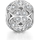 NinaQueen 925 Sterling Silver Love Clover Charm for European Bracelets Fit for Pandöra Charms Pendant Chocker Necklaces Birthday Anniversary Christmas Gifts For Mommy Women Her Wife Sister Daughter