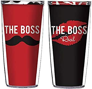 The Boss and The Real Boss 16 Oz Tumblers