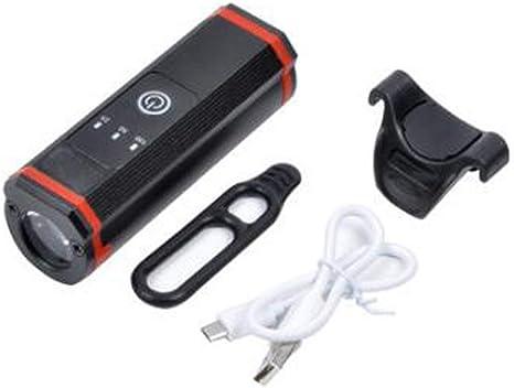 SD Cargadores USB Impermeable Montar en Bicicleta Bicicleta de montaña Focos para Montar en Bicicleta, T6 Resaltar Lámpara Pantalla de Potencia 5 Modos de iluminación Gran Capacidad,A: Amazon.es: Deportes y aire libre