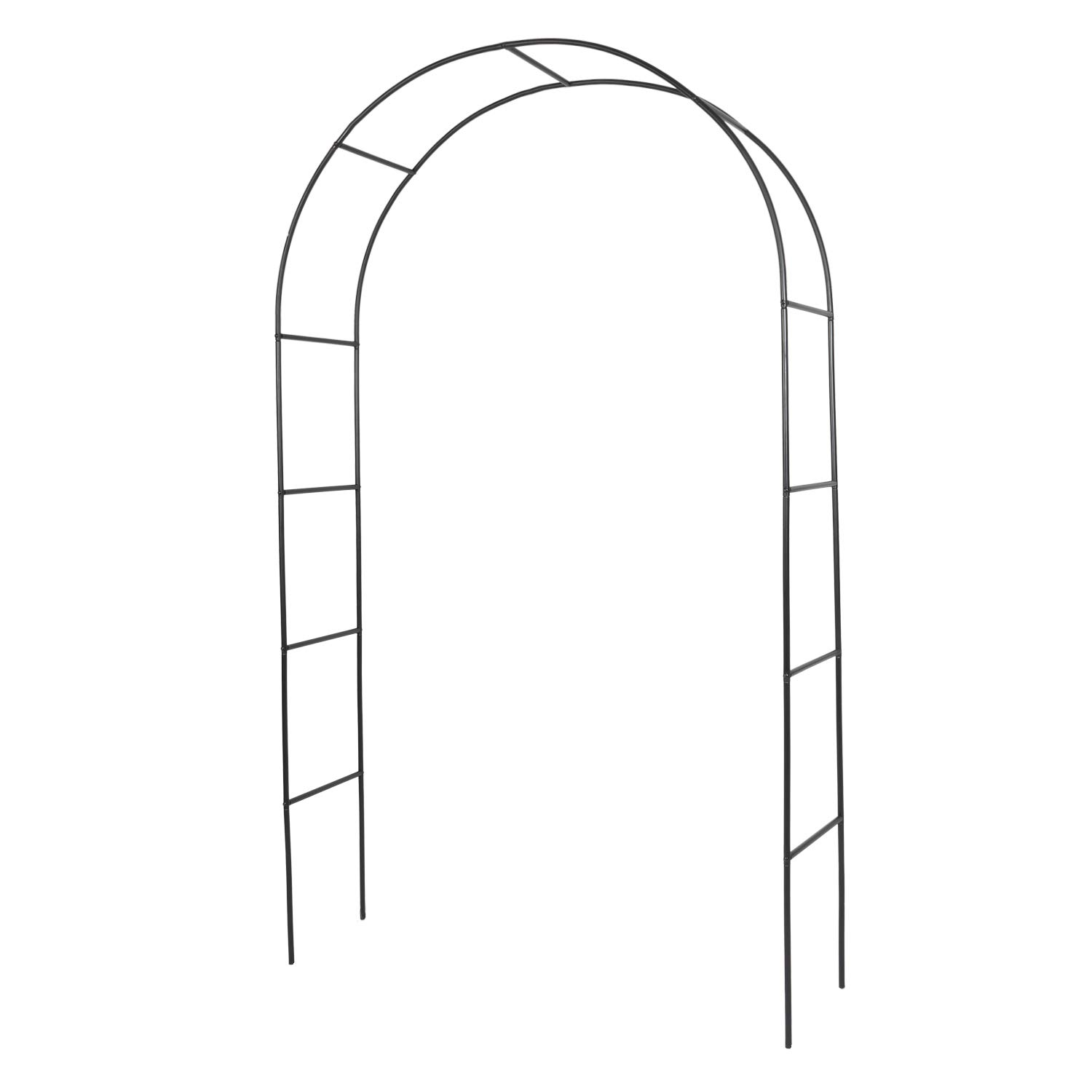 Kinbor Metal Garden Arbor Wedding Arch Outdoor Arch Trellis for Climbing Plants Roses Vines Bridal Party Decoration Lawn Backyard