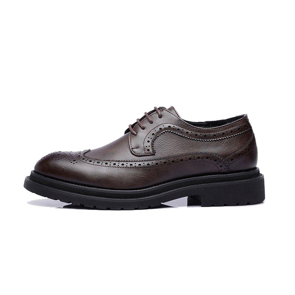 JIALUN-Schuhe JIALUN-Schuhe JIALUN-Schuhe Business-Brogue-Schuhe der einfachen Männer PU-Leder-Oberseiten-Spitze Wingtip Dekoration-Breathable Outsole Oxfords (Farbe   Schwarz, Größe   38 EU)  44aaed