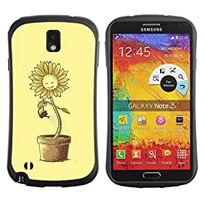 Be-Star Impreso Colorido Diseño Antichoque Caso Del iFace Primera Clase Tpu Carcasa Funda Case Cubierta Par SAMSUNG Galaxy Note 3 III / N9000 / N9005 ( Funny Suflower Waterin )