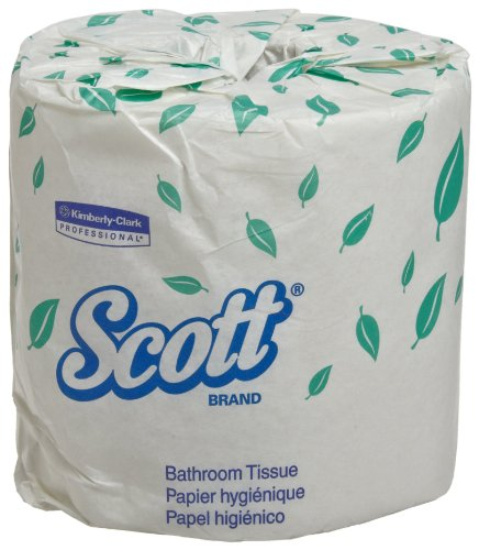 Scott Professional Professional Bulk Toilet Paper for Business (13607), Individually Wrapped Standard Rolls, 2-PLY, White, 20 Rolls/Convenience Case, 550 Sheets/Roll
