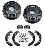 Mac Auto Parts 39795 Bronco Full Size E0 F0 (2) Brake Drum Drums Shoes Wheel Cyl