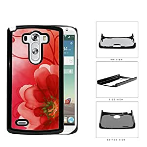 Red Gradient Flower Petals Hard Plastic Snap On Cell Phone Case LG G3