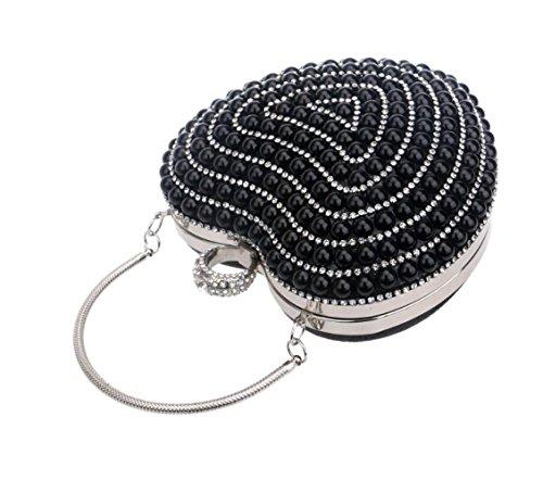 Bridal Evening Diamante Elegant Clutch Party Crossbody Purse Clutch Handbag Ladies Black Wedding Handbag Bag Small Bridal Y5wg5